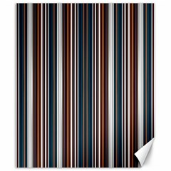Pear Blossom Teal Orange Brown Coordinating Stripes  Canvas 20  X 24   by ssmccurdydesigns