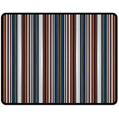Pear Blossom Teal Orange Brown Coordinating Stripes  Fleece Blanket (medium)  by ssmccurdydesigns