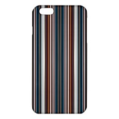 Pear Blossom Teal Orange Brown Coordinating Stripes  Iphone 6 Plus/6s Plus Tpu Case by ssmccurdydesigns