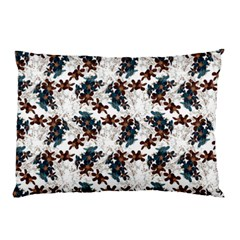 Pear Blossom Teal Orange Brown  Pillow Case (two Sides) by ssmccurdydesigns