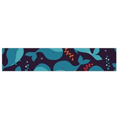 Blue Whale Pattern Small Flano Scarf by allthingseveryday