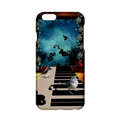 Music, Piano With Birds And Butterflies Apple Iphone 6/6s Hardshell Case by FantasyWorld7