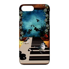Music, Piano With Birds And Butterflies Apple Iphone 7 Plus Hardshell Case by FantasyWorld7