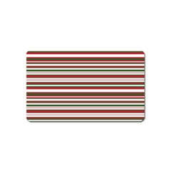 Christmas Stripes Pattern Magnet (name Card) by patternstudio