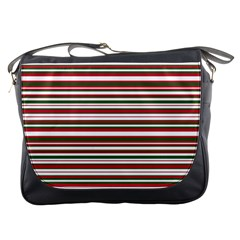 Christmas Stripes Pattern Messenger Bags by patternstudio