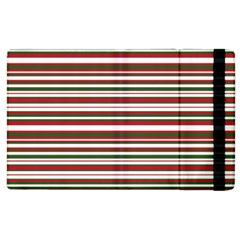 Christmas Stripes Pattern Apple Ipad 2 Flip Case by patternstudio