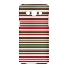 Christmas Stripes Pattern Samsung Galaxy A5 Hardshell Case  by patternstudio