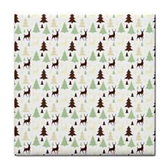 Reindeer Tree Forest Tile Coasters by patternstudio