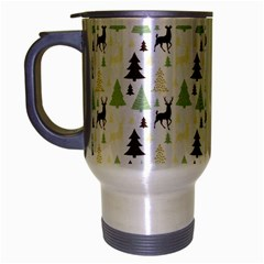 Reindeer Tree Forest Travel Mug (silver Gray) by patternstudio