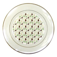Reindeer Tree Forest Porcelain Plates by patternstudio