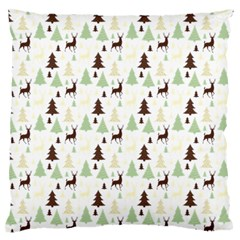 Reindeer Tree Forest Large Flano Cushion Case (two Sides) by patternstudio