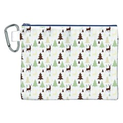 Reindeer Tree Forest Canvas Cosmetic Bag (xxl)
