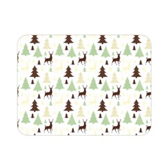 Reindeer Tree Forest Double Sided Flano Blanket (mini)  by patternstudio