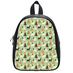 Reindeer Tree Forest Art School Bag (small) by patternstudio