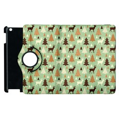 Reindeer Tree Forest Art Apple Ipad 2 Flip 360 Case by patternstudio
