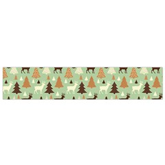 Reindeer Tree Forest Art Small Flano Scarf by patternstudio