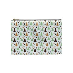Reindeer Christmas Tree Jungle Art Cosmetic Bag (medium)  by patternstudio