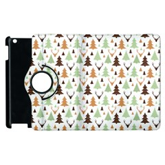 Reindeer Christmas Tree Jungle Art Apple Ipad 2 Flip 360 Case by patternstudio