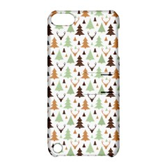Reindeer Christmas Tree Jungle Art Apple Ipod Touch 5 Hardshell Case With Stand by patternstudio