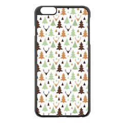 Reindeer Christmas Tree Jungle Art Apple Iphone 6 Plus/6s Plus Black Enamel Case by patternstudio