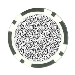 Wavy Intricate Seamless Pattern Design Poker Chip Card Guard (10 Pack) by dflcprints