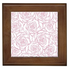 Pink Peonies Framed Tiles by 8fugoso