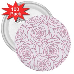 Pink Peonies 3  Buttons (100 Pack)  by 8fugoso