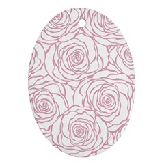 Pink Peonies Oval Ornament (two Sides) by 8fugoso