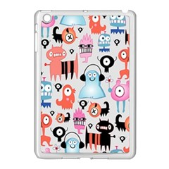 Funky Monsters Pattern Apple Ipad Mini Case (white) by allthingseveryday