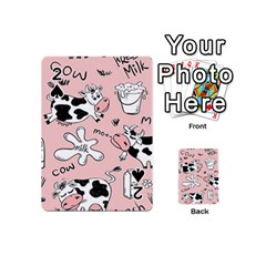 Fresh Milk Cow Pattern Playing Cards 54 (mini)  by allthingseveryday