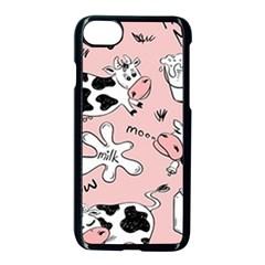 Fresh Milk Cow Pattern Apple Iphone 7 Seamless Case (black) by allthingseveryday