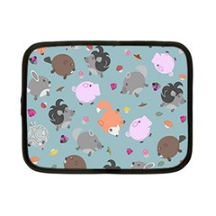 Little Round Animal Friends Netbook Case (small)  by allthingseveryday
