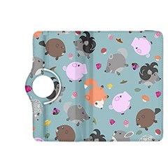 Little Round Animal Friends Kindle Fire Hdx 8 9  Flip 360 Case by allthingseveryday