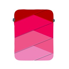 Geometric Shapes Magenta Pink Rose Apple Ipad 2/3/4 Protective Soft Cases by Celenk