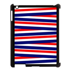 Red White Blue Patriotic Ribbons Apple Ipad 3/4 Case (black) by Celenk