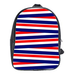 Red White Blue Patriotic Ribbons School Bag (xl) by Celenk