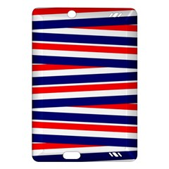 Red White Blue Patriotic Ribbons Amazon Kindle Fire Hd (2013) Hardshell Case by Celenk