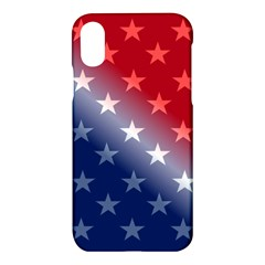 America Patriotic Red White Blue Apple Iphone X Hardshell Case by Celenk
