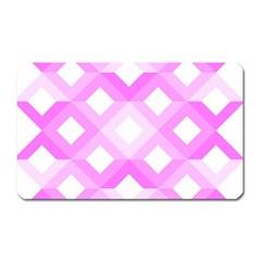 Geometric Chevrons Angles Pink Magnet (rectangular) by Celenk