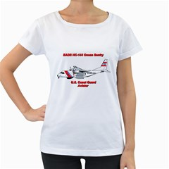Eads Hc 144 Ocean Sentry Coast Guard Aviator  Women s Loose Fit T Shirt (white) by allthingseveryday