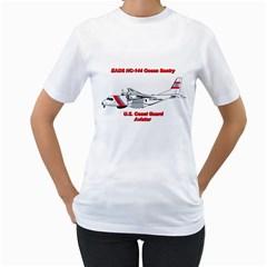 Eads Hc 144 Ocean Sentry Coast Guard Aviator  Women s T Shirt (white)  by allthingseveryday