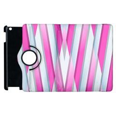 Geometric 3d Design Pattern Pink Apple Ipad 2 Flip 360 Case by Celenk