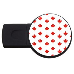Maple Leaf Canada Emblem Country Usb Flash Drive Round (4 Gb) by Celenk