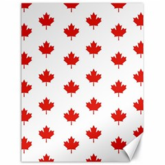 Maple Leaf Canada Emblem Country Canvas 18  X 24   by Celenk