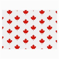 Maple Leaf Canada Emblem Country Large Glasses Cloth by Celenk