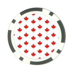 Maple Leaf Canada Emblem Country Poker Chip Card Guard by Celenk