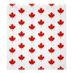 Maple Leaf Canada Emblem Country Shower Curtain 66  X 72  (large)  by Celenk