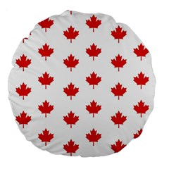 Maple Leaf Canada Emblem Country Large 18  Premium Round Cushions by Celenk
