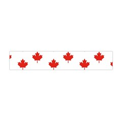 Maple Leaf Canada Emblem Country Flano Scarf (mini) by Celenk