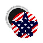 Patriotic Usa Stars Stripes Red 2.25  Magnets